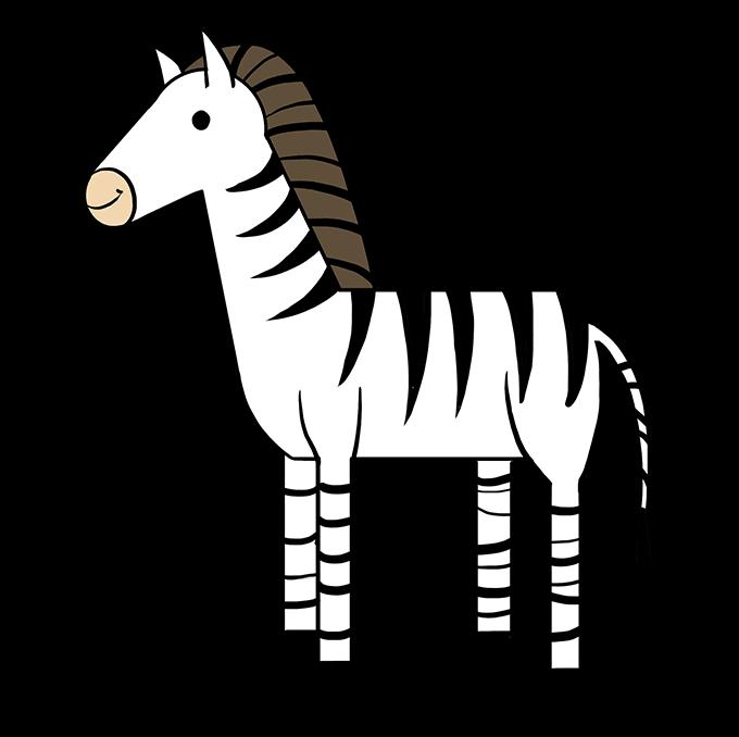 680x678 How To Draw A Zebra