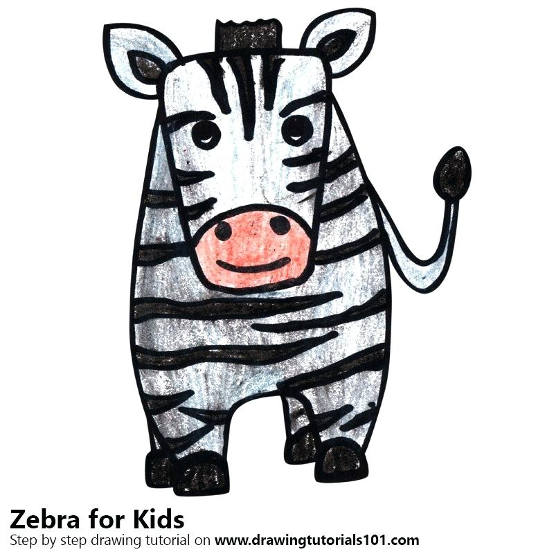 800x800 Zebra Drawing For Kids How To Draw A Zebra For Kids Famous