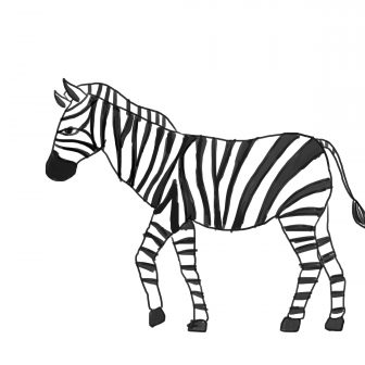 336x336 Drawing A Zebra Crossing Face Tutorial Easy Video Head Color I