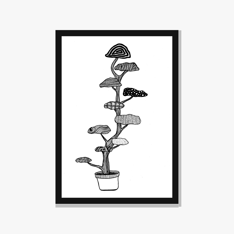 3000x3000 Printable Cloud Tree Japanese Garden Print Niwaki Art Zen Etsy