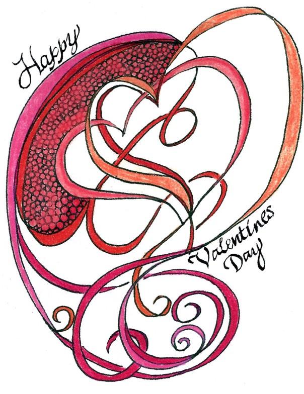 604x784 Zen Doodle Drawing Rhobin's Garden