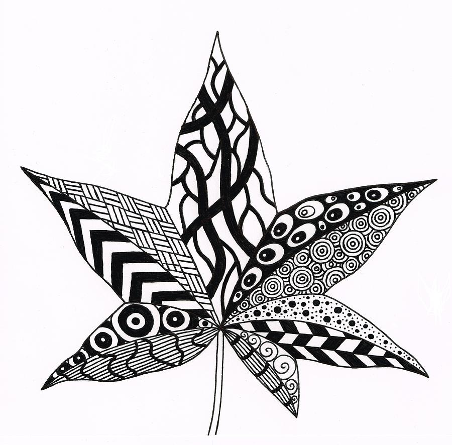 900x886 Zen Drawing Leaf For Free Download