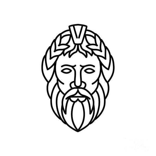 Zeus Greek God Drawing Free Download Best Zeus Greek God