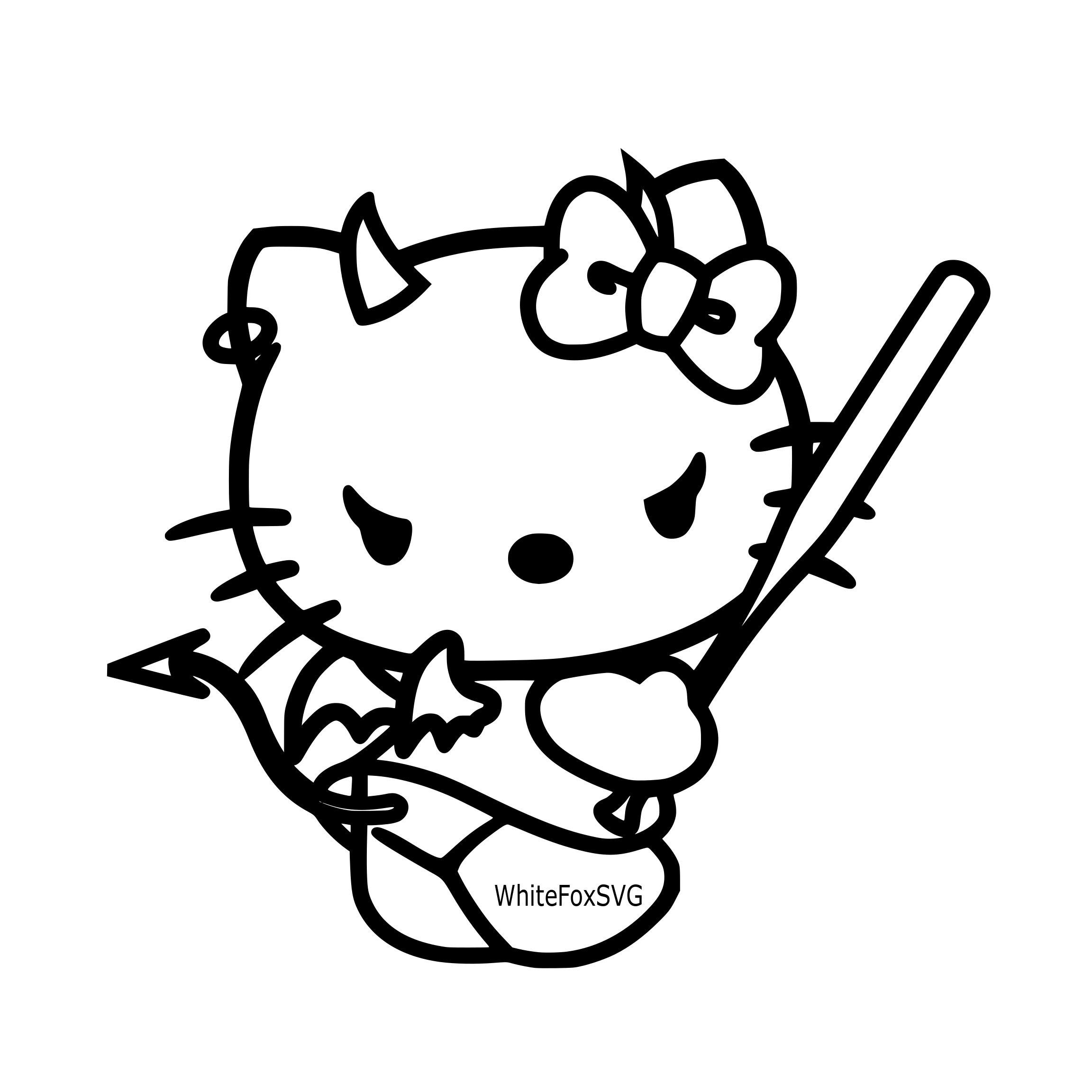 2304x2304 hello kitty evil hello kitty halloween hello kitty etsy