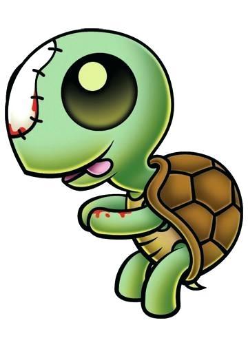 360x504 Cute Cartoon Zombies Zombie Turtle Temporary Tattoo Zombies