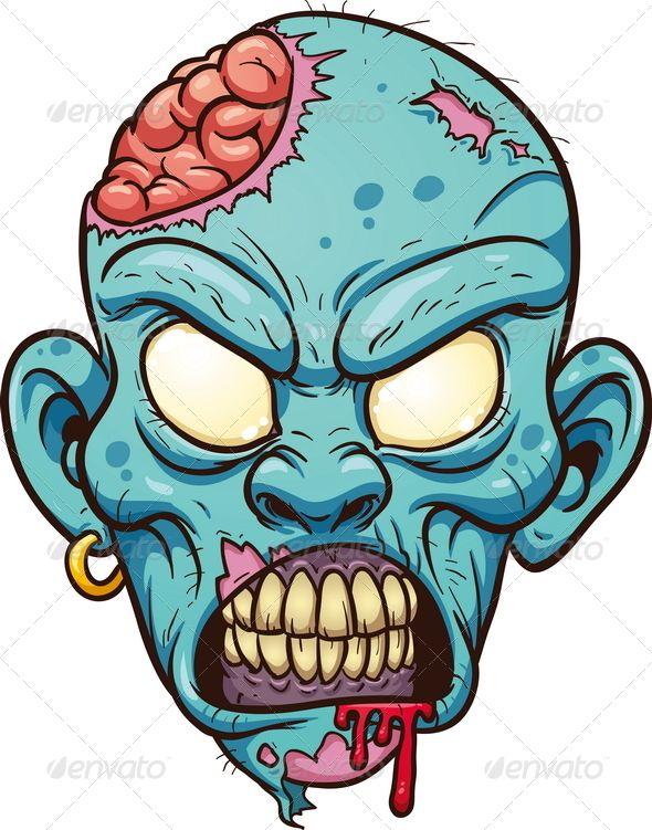 590x751 Graphicriver Cartoon Zombie Head Zombee Collection