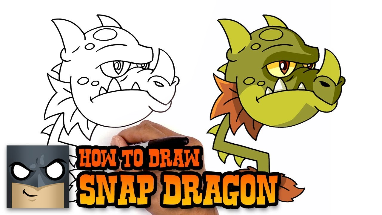 1280x720 How To Draw Snap Dragon Plants Vs Zombies