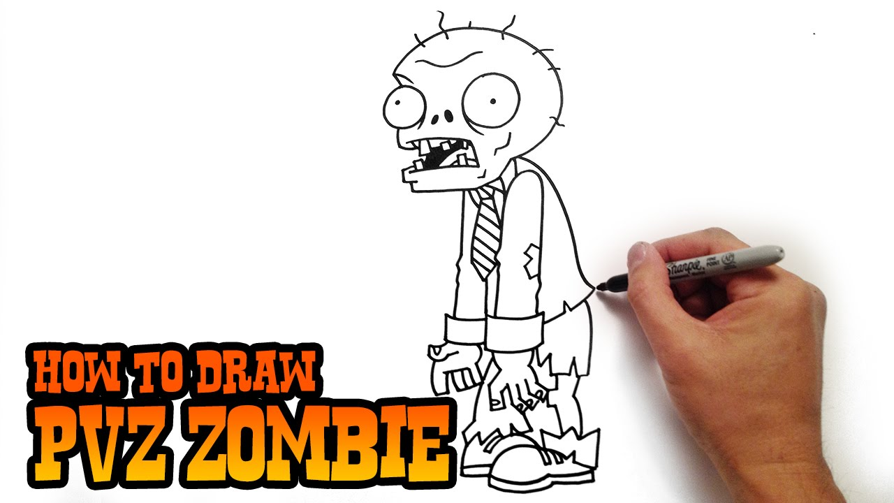 1280x720 How To Draw A Zombie From Plants Vs Zombies