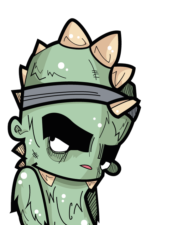 600x719 Vector Zombie Cartoon Band Transparent Png Clipart Free Download