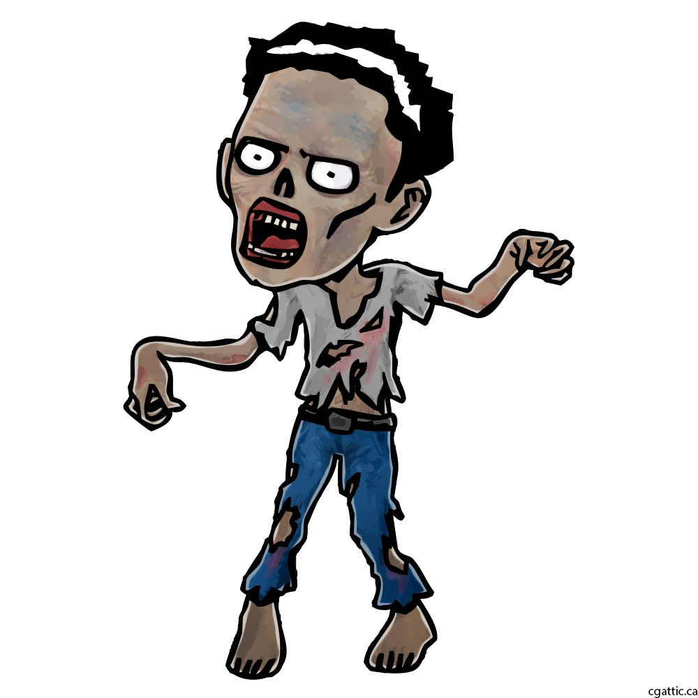 1000x1000 Zombie Cartoon Drawing In Steps With Photoshop The Digital Art