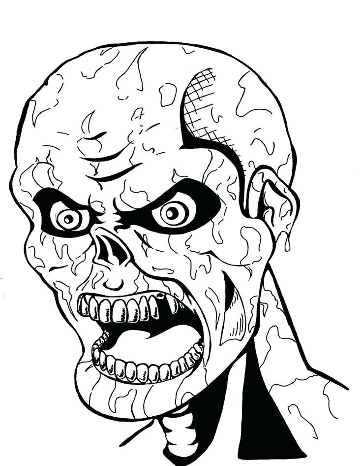 736x946 Zombie Coloring Pictures Scary Zombie Coloring