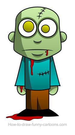 250x445 Zombie Drawings