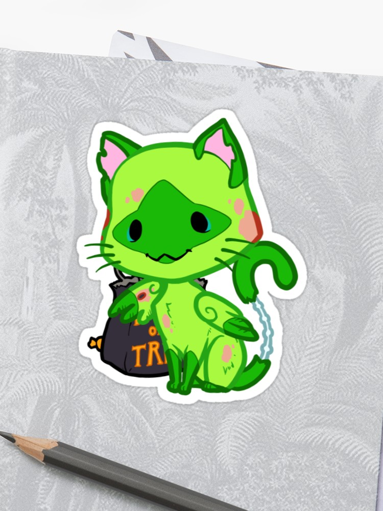 750x1000 Halloween Chibi Winged Kitty