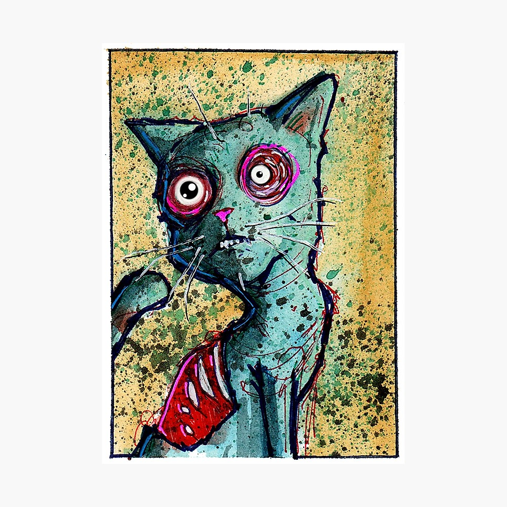 1000x1000 Petey The Zombie Cat Photographic Print