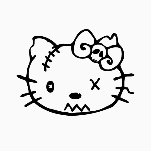 640x640 Classic Creative Zombie Cat Car Sticker Car Styling