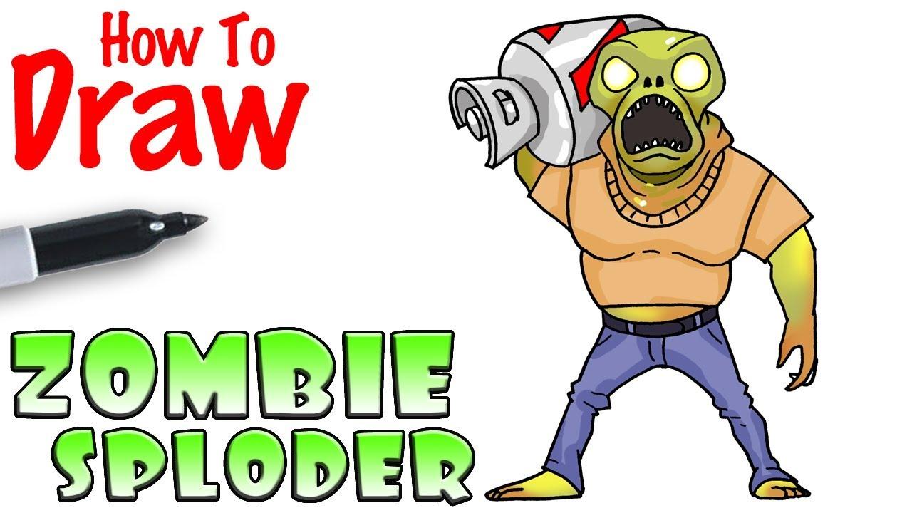 1280x720 How To Draw Sploder Zombie Fortnite