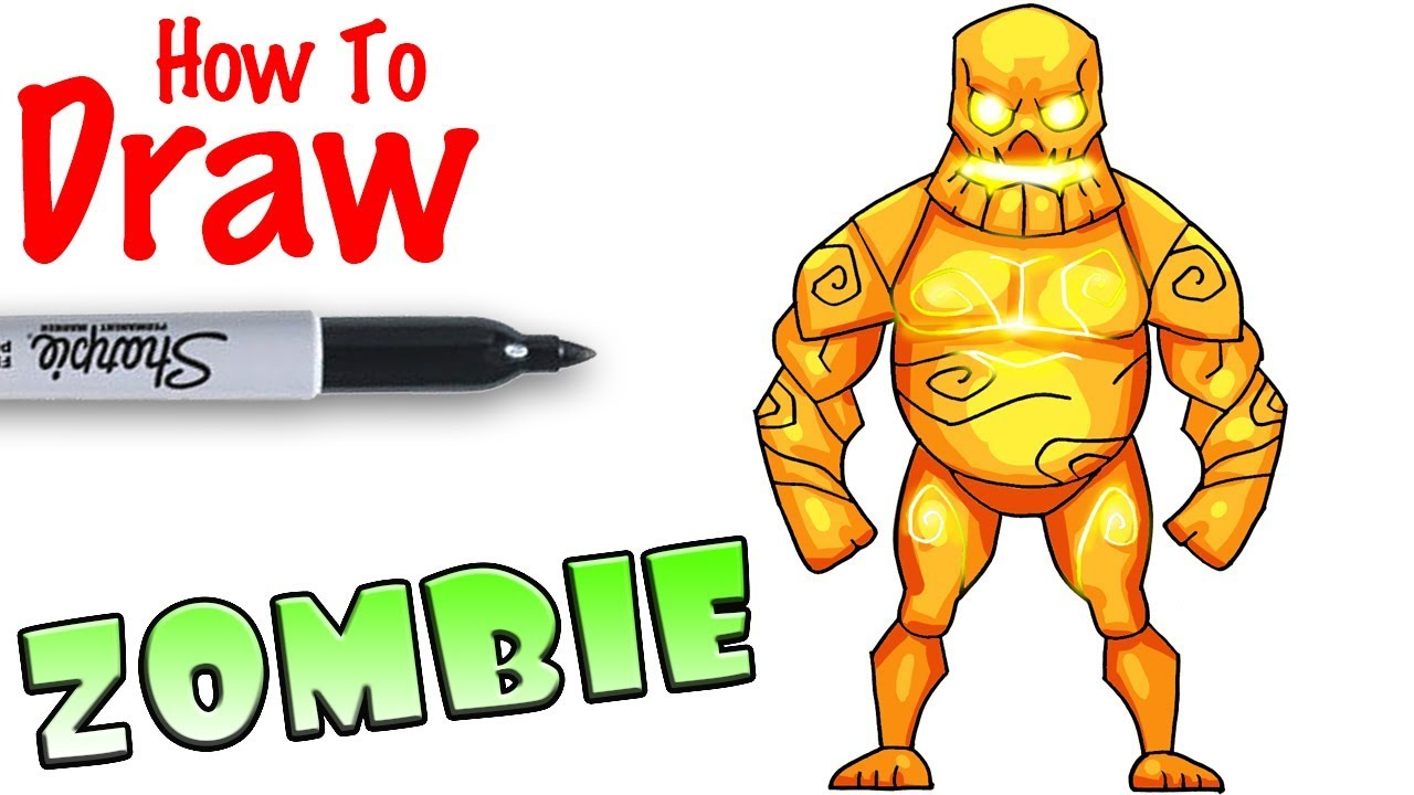 1280x720 How To Draw The Big Zombie Fortnite