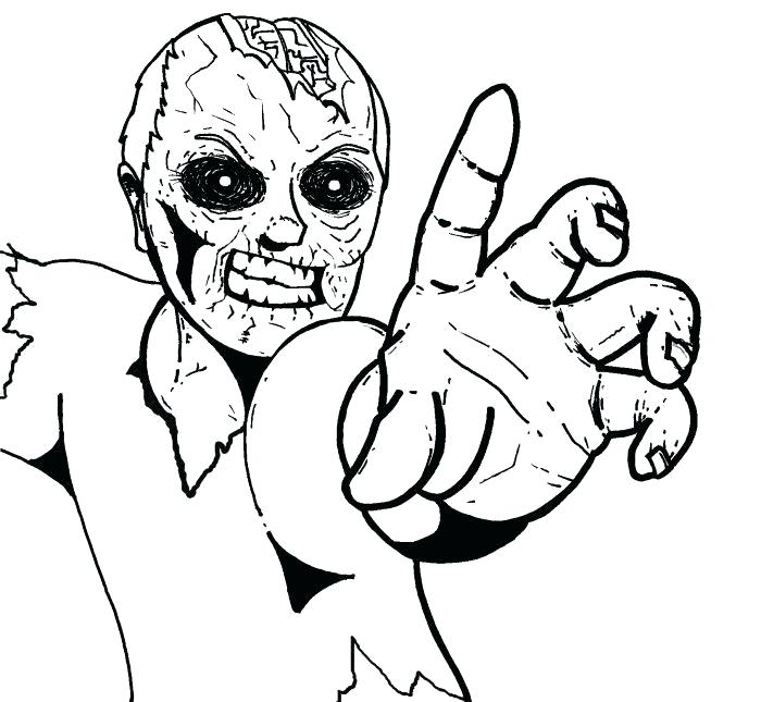 700x645 Zombie Coloring Pictures Zombie Coloring Pages A Plants Vs Zombies