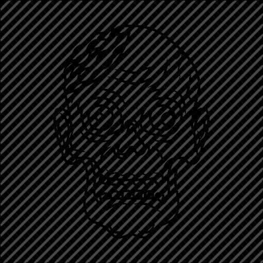 512x512 Dead, Face, Halloween, Smile, Smiley, Undead, Zombie Icon