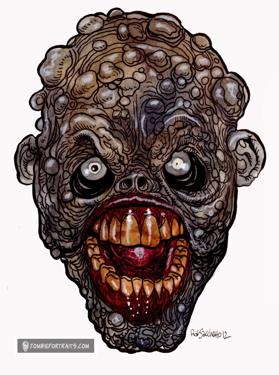 920x1238 Heads Of The Living Dead Ew, Zombie Wart Face!