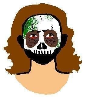 297x349 Thriller Zombie Makeup How To Create A Face Painting Makeup