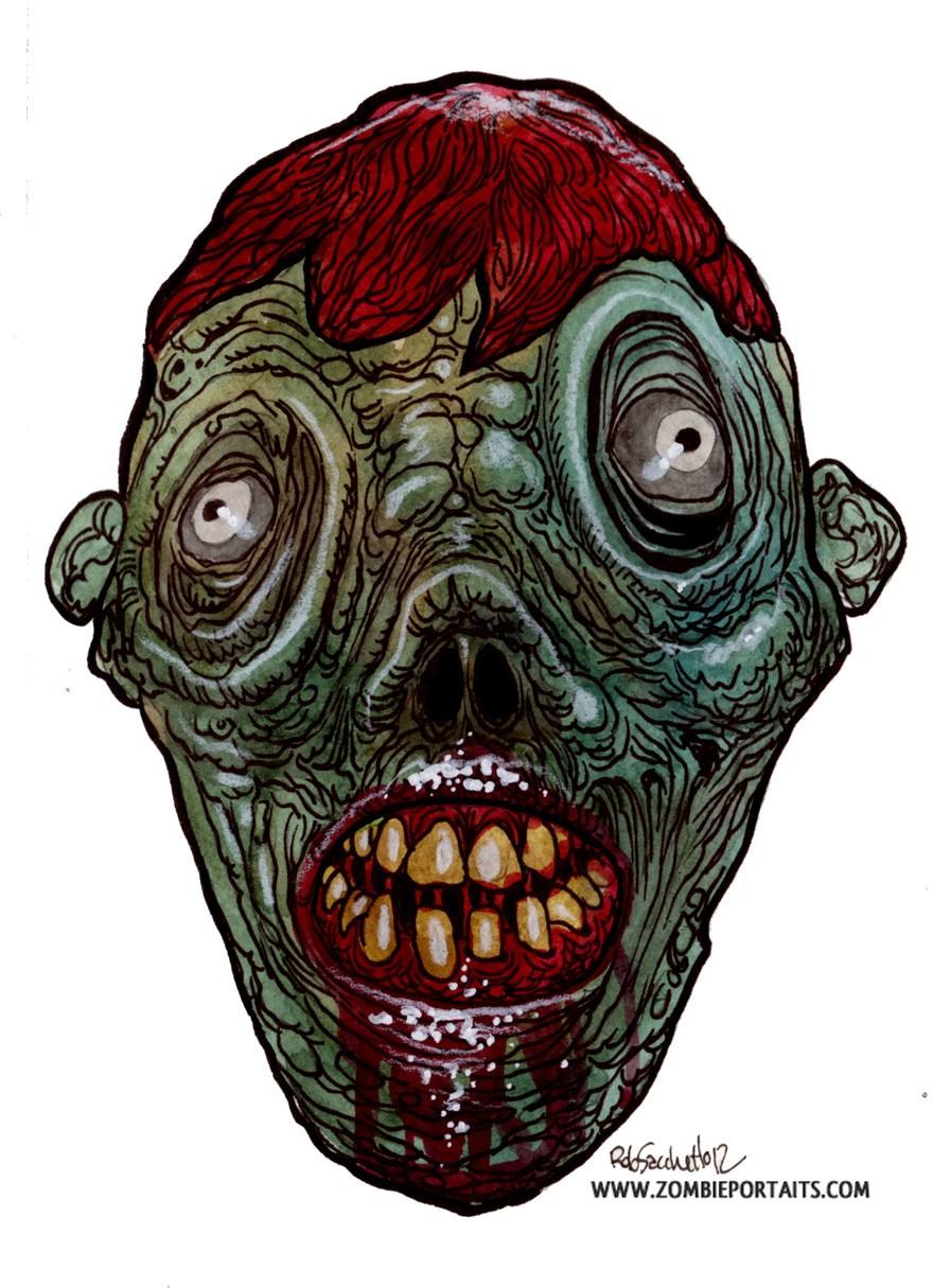 880x1215 Where's Wall Eye Zombie Art