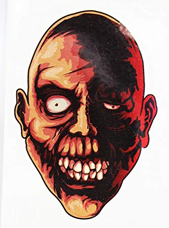 333x450 Creepy Staring Zombie Face Temporary Tattoo Toys Games