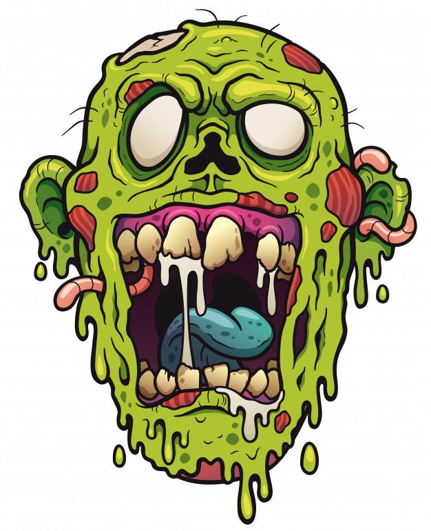626x770 Zombie Face Cartoon Vector Premium Download