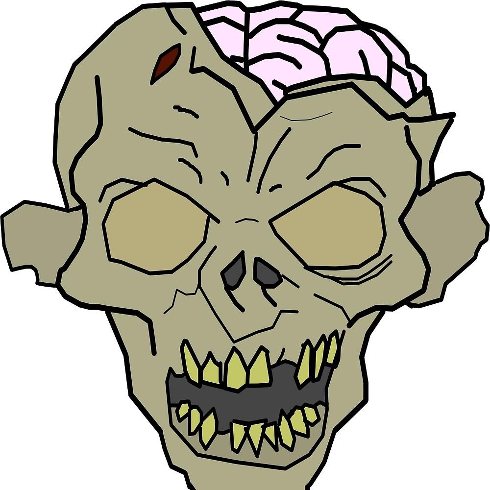 1000x1000 Zombie Face