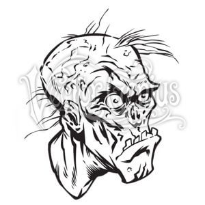 300x300 Beast Wreck Undead Zombie Head Clipart