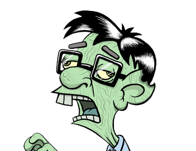 389x300 Collection Of Free Nerd Drawing Zombie Download On Ui Ex