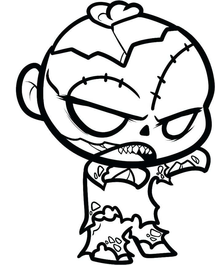 700x862 Zombies Coloring Pages Zombie Coloring