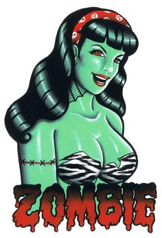 Zombie Pin Up Girl Drawings