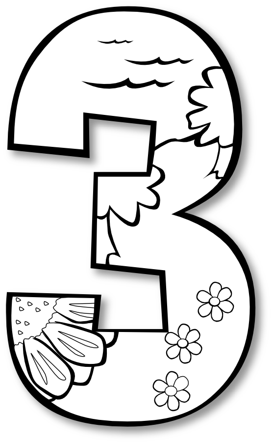 555x902 Creation Day 3 Number Ge 1 Black White Line Art Coloring Book