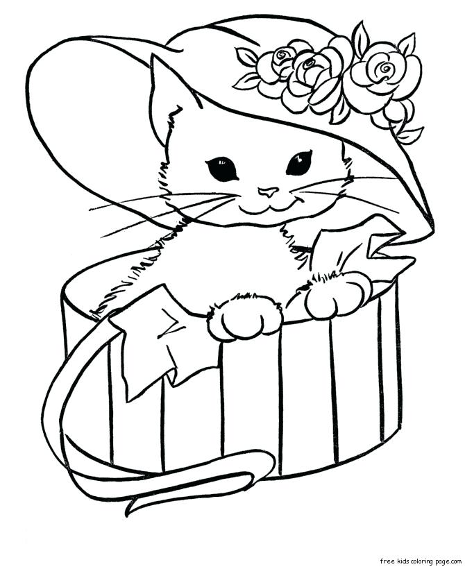 670x820 Cute Coloring Pages Animal 1