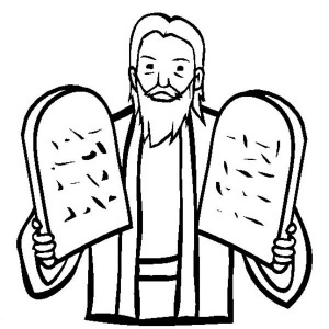 300x300 Picture Of Ten Commandments Coloring Page Coloring Sun
