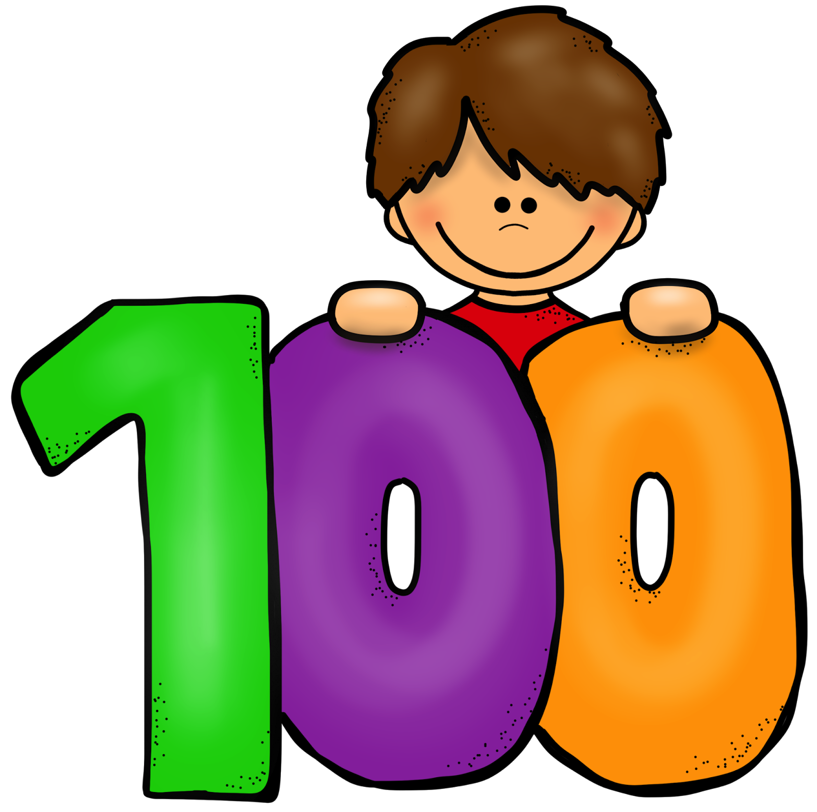 1600x1591 100th Day Clipart