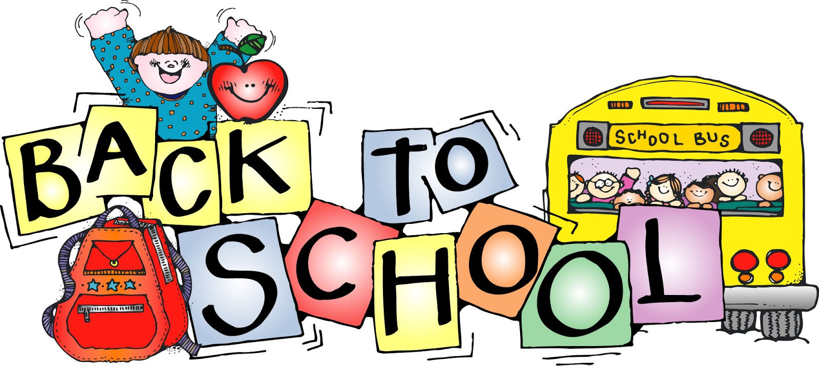 1600x716 Clipart Back To School