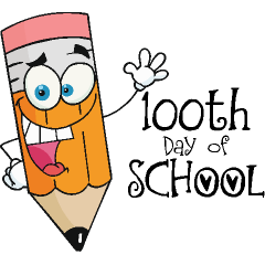 240x240 100 day clipart