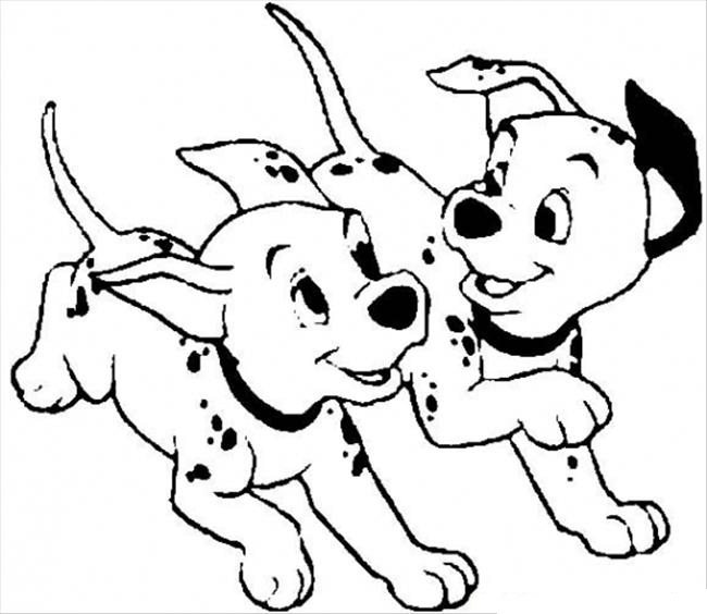 650x564 101 Dalmation Coloring Pages For Kids Dalmatian In A Sock