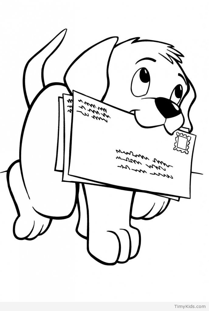 688x1024 Puppy Coloring Pages Timykids