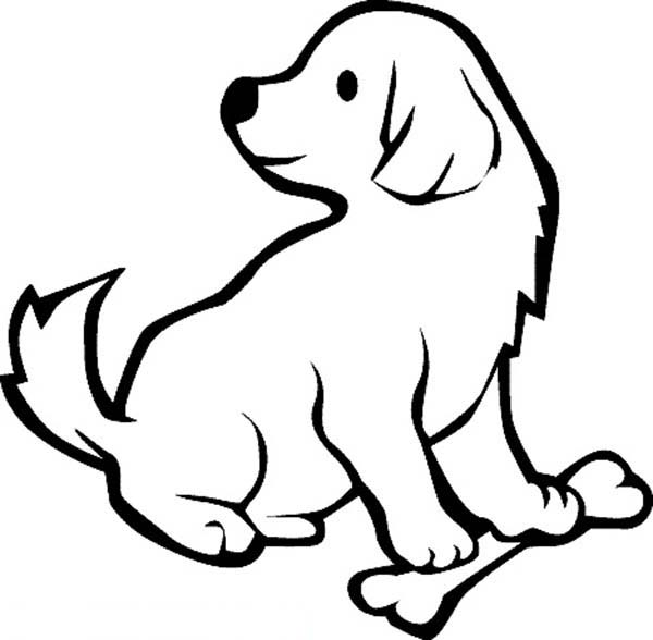 600x588 Bone Coloring Pages Dog Bone Coloring Page