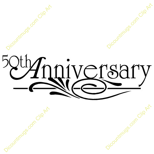500x500 50th Anniversary Clipart