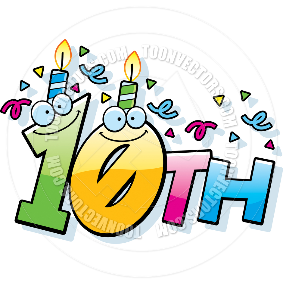 940x940 Happy 10th Anniversary Clip Art