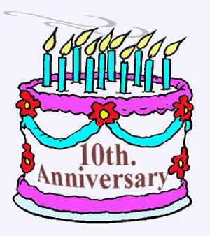 300x338 Happy 10th Anniversary Clipart 1973033