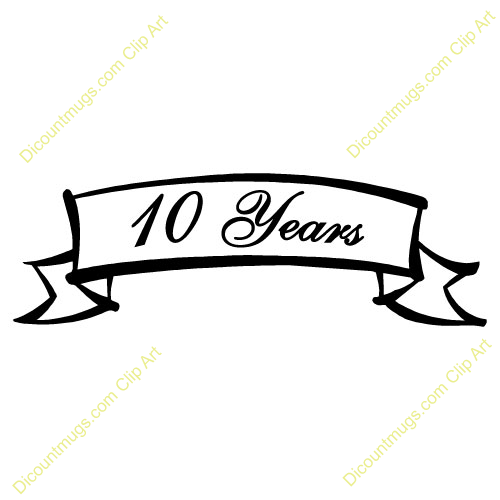 500x500 10th Anniversary Clipart