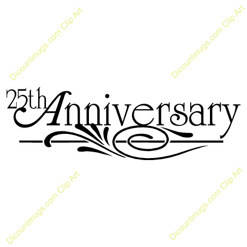 500x500 25th Wedding Anniversary Clipart Free