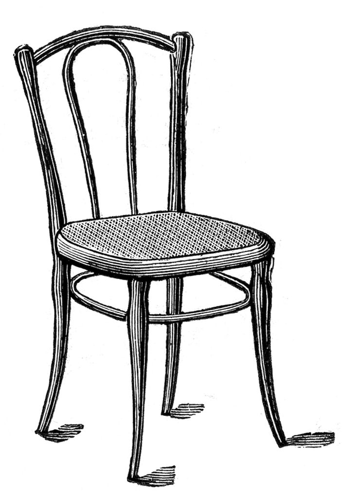 736x1033 Furniture Delightful Chairs Clipart Black And White Chair Clip