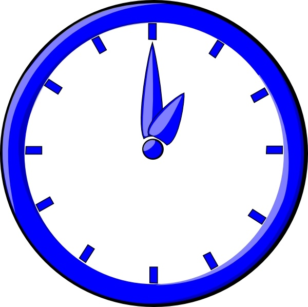 600x598 12 O Clock Clip Art Free Vector In Open Office Drawing Svg ( Svg