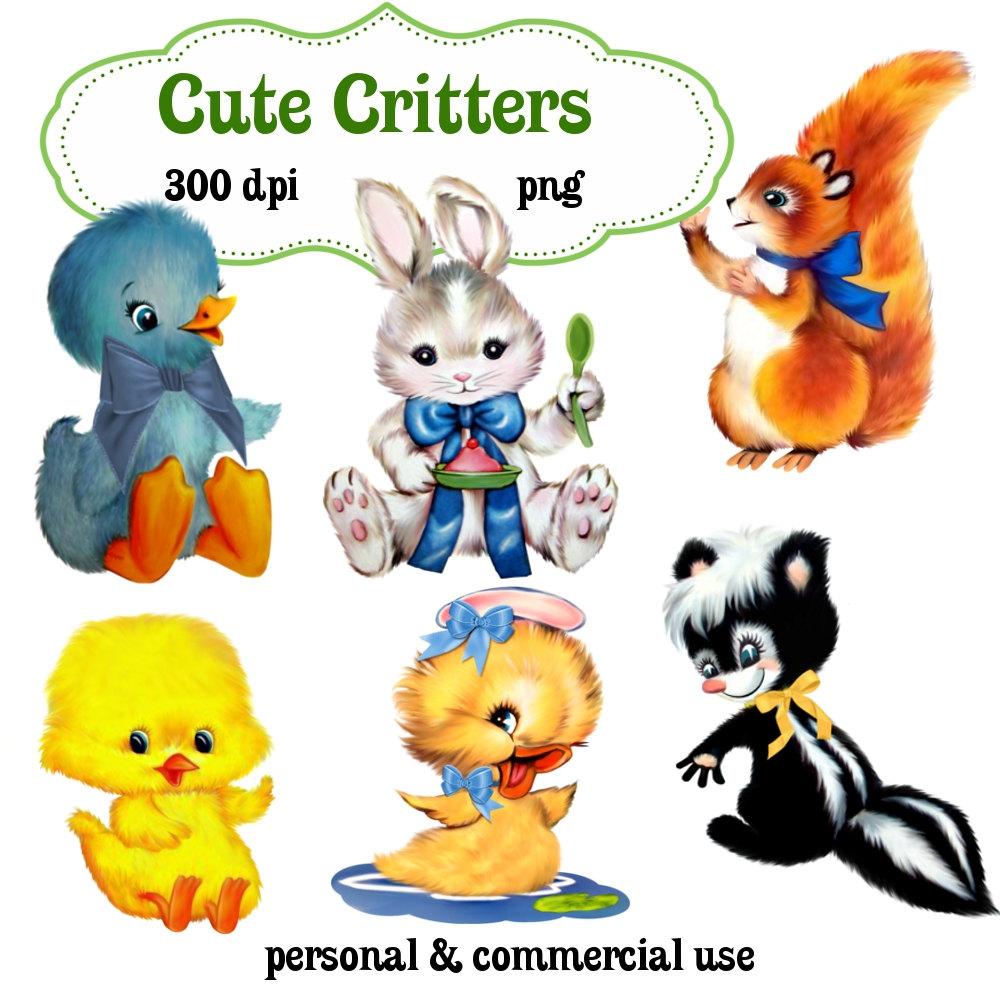 1000x1000 Clip Art Cute Critters Animals Png Digital Images No 123